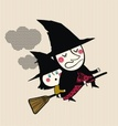 Witch,Hat,Humor,Cloud - Sky...