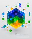 Cube Shape,Isometric,Techno...
