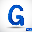 Abstract,Letter G,Painted I...