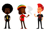 Mohawk,Male,Cartoon,Afro,Ra...