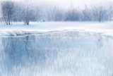 Landscape,Winter,Lake,Ice,C...