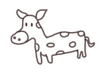 Vector,Animal,Ilustration,Cow