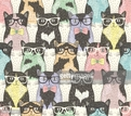 Humor,Bow Tie,Eyeglasses,Cheerful,Drawing - Art Product,Animal,Animal Markings,Animal Body Part,Playful,Domestic Animals,Multi Colored,Pattern,Spotted,Textile,Undomesticated Cat,Domestic Cat,Childhood,Backgrounds,Repetition,Fun,Child,Paw,Art And Craft,Art,Cute,Tied Bow,Ornate,Abstract,Illustration,Cartoon,Sketch,Doodle,Young Animal,Kitten,Vector,Pets,Characters,Fashion,Backdrop,Clip Art,Seamless Pattern,Hipster - Person