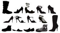 Shoe,Silhouette,Boot,Clothi...