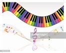 Piano,Colors,Musical Note,M...