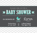 Baby Shower,Invitation,Chev...