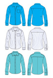 Shirt,Pocket,Set,Isolated,C...