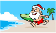 Santa Claus,Surfing,Vacatio...