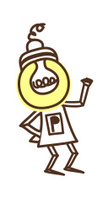 Clip Art,Light Bulb,Thinkin...