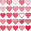 Red,Pattern,Heart Shape,Sym...