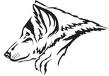 Wolf,Animal Head,Ilustratio...