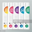 Five column customizable infographic vector design template