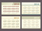 2014,Calendar,chronological...