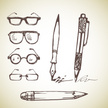 Eyeglasses,Pen,Sketch,Doodl...