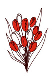 Clip Art,Branch,Leaf,Tulip,...