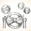 Place Setting,Plate,Silverw...