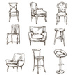 Chair,Sketch,Furniture,Retr...