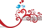 Computer Graphics,Love,Happiness,Symbol,Sign,Bonding,Togetherness,Drawing - Art Product,Animal,Bird,Blue,Red,Season,Day,Silhouette,Decoration,Heart Shape,Computer Graphic,Valentine Card,Cute,Valentine's Day - Holiday,Abstract,Illustration,Celebration,Cartoon,Vector,Swirl,Couple - Relationship