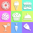 Icon Set,Food,Symbol,Flat,C...
