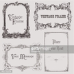 Set of vintage frame designs in Victorian style