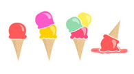 Ice Cream Cone,Vector,Ice C...