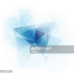 Abstract blue geometric triangles background