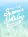 Summer poster, vector illustration
