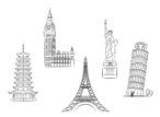 Statue of Liberty,Eiffel To...