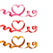 Ribbon,Heart Shape,Ribbon,L...