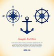 Anchor,Tattoo,Compass,Old,R...