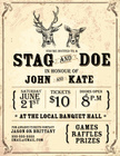 Invitation,Stag,Retro Reviv...
