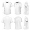 All six views men's white short sleeve t-shirt