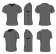 T-Shirt,V-Neck,template,Fro...
