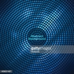 Abstract blue disco background with halftone design