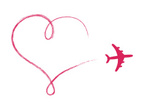 Airplane,Heart Shape,Symbol...