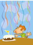 Blowing,Candle,Birthday,Tab...