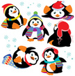 Penguin,Cute,Collection,Car...