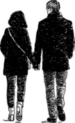 Silhouette,Couple,Drawing -...