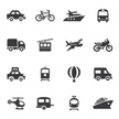 Transportation Silhouette icons