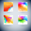 Set of Vector geometric colorful backgrounds with triangles