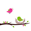 Springtime,Bird,Pink Color,...