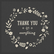 Thank You - Phrase,Doodle,Single Flower,Plant Stem,Daisy,Design Element,Textured,Vector,Leaf,Placard,Flower,Abstract,Modern,Invitation,Floral Pattern,Pattern,Text,Wreath,Drawing - Art Product,Paper,Branch - Plant Part,Illustration,Multi Colored,Design,Nature,Sketch,No People,Circle,Copy Space,Frame - Border,Springtime