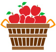 Basket,Apple - Fruit,Market...