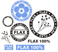 Flax,Flower,Rubber Stamp,Si...