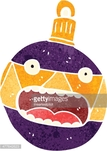 Bizarre,Christmas,Multi Colored,Old-fashioned,Cultures,Decoration,Cute,Christmas Ornament,Illustration,Cartoon,No People,Vector,Retro Styled