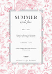 Summer vertical vector vintage elegant card