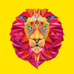 Lion - Feline,Human Face,Tattoo,Sign,Diamond,Animal,Geometric Shape,Multi Colored,Zoo,Backgrounds,Symbol,Mascot,Ilustration,Vector,Strength,Mane,Yellow,Africa,Mammal,Sport,Carnivore,Computer Graphic,Nature