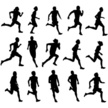 Running,Jogging,Silhouette,...