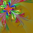 Fractal,Ray,Mosaic,Glass - ...