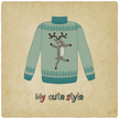 Deer,Blue,Clothing,Vector,G...